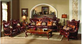 Мягкая мебель в классическом стиле из кожи Генрих (Аванти)