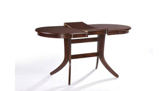 Обеденный стол-трансформер с овальной столешницей GAVANA (орех)