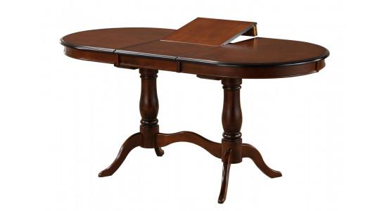 Овальный стол-трансформер для гостиной EVA (орех)
