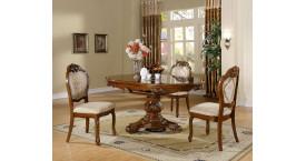 Обеденные группы с круглым столом с цветом столешницы итальянский орех