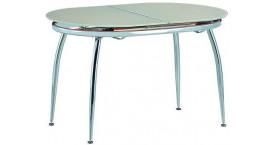 Стеклянные столы с цветом дерева кремовый