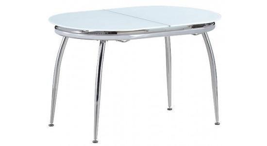 Обеденный стол-трансформер с овальной столешницей  CALIPSO (белый)