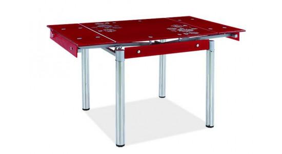 Стеклянный стол (трансформер)  A -130 (красный)