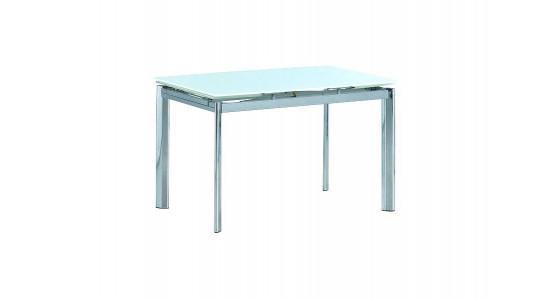 Белый стеклянный стол LOGAN (трансформер)