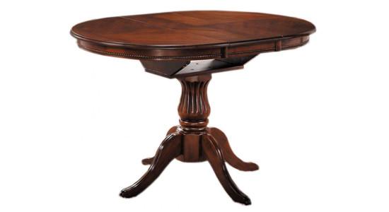 Раскладной овальный стол CAPRI (тёмный орех)