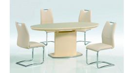 Овальный стол-трансформер ISLAND (кремовый)