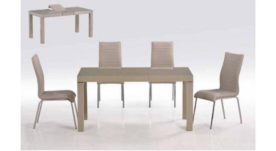 Стол обеденный (трансформер) LINE (кофейный)
