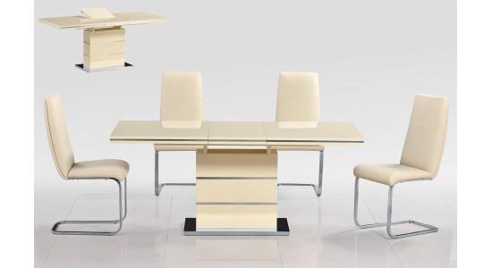 Современный стол-трансформер STAR (кремовый)