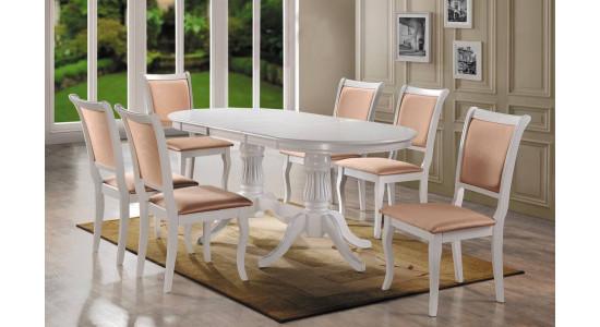 Стол обеденный (трансформер) VENICE (белый)