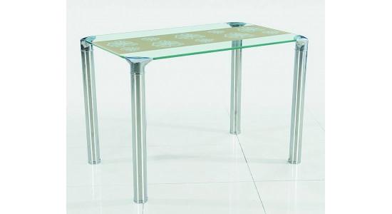 Кухонный стол со стеклянной столешницей (трансформер) B-236 (бежевый)