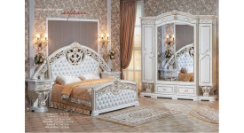 Спальня Марелла (белый/золото) (Арида Мебель)