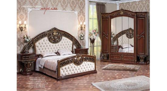 Спальня Марелла (темный орех/золото) (Арида Мебель)