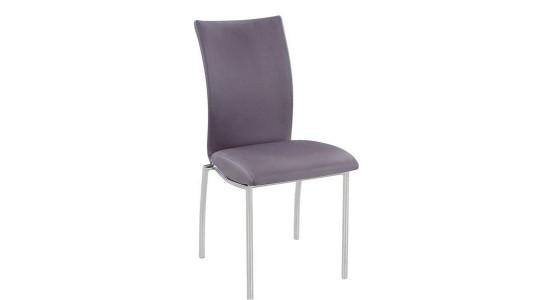 Металлический стул с мягким сиденьем C-130 (серый)