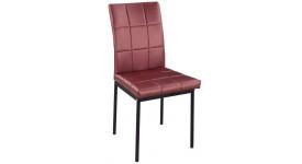 Металлический стул с кожаной обивкой С-333 (цвет красного вина)