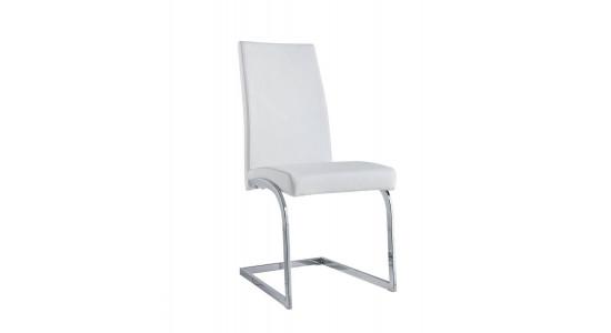 Белый кожаный стул DESIGN