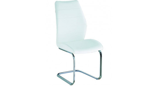 Белый стул из экокожи на металлокаркасе с мягкой спинкой X-698