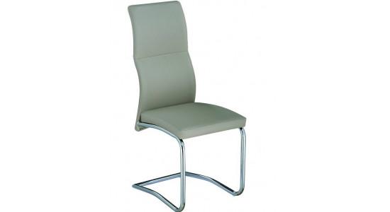 Кожаный стул на металлокаркасе X-645 (шампань)