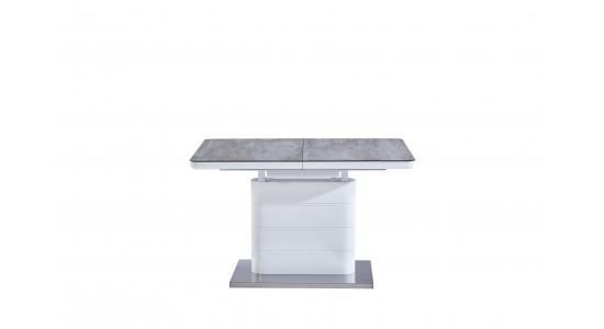 Стол модерн обеденный (трансформер) Mago Matt White Cream (120-160)