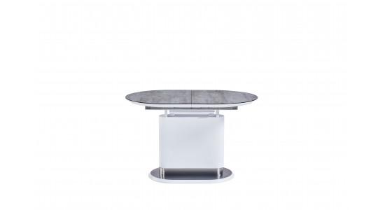 Стол модерн обеденный (трансформер) Omega Matt White Cream (140-180)