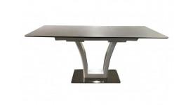 Стол обеденный (трансформер) FUSION (160-210) (сатин мокко/латте)