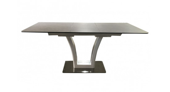 Стол обеденный (трансформер) FUSION (140-180) (сатин мокко/латте)