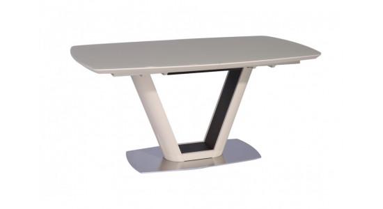 Стол обеденный (трансформер) MIAMI (матовый бежевый лак/орех)