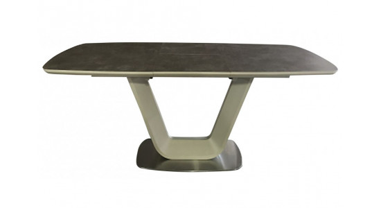 Стол обеденный (трансформер) OASIS (160-210) (сатин мокко/латте)