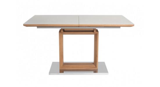 Стол обеденный (трансформер) REMIX (дуб/латте сатин)