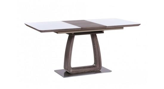 Стол обеденный (трансформер) VETRO (120-160) (кэмел/супер белый)