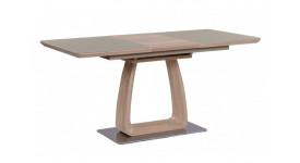 Стол обеденный (трансформер) VETRO (120-160) (дуб/крем сатин)