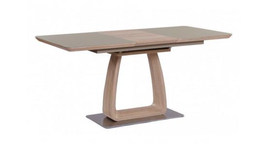 Стол обеденный (трансформер) VETRO (140-180) (дуб/крем сатин)
